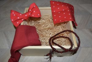 Dárkový dřevěný box s motýlkem
