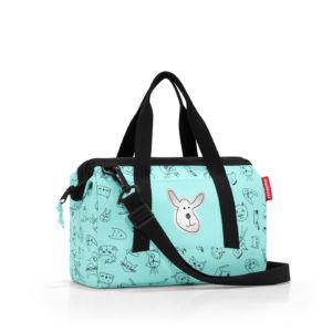 Dětská cestovní taška Reisenthel Allrounder XS Kids Cats and Dogs Mint