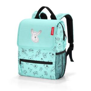 Dětský batoh Reisenthel Backpack Kids Cats and Dogs Mint