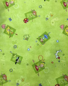 Dětský kusový koberec Baletky 100×100 cm   zelený