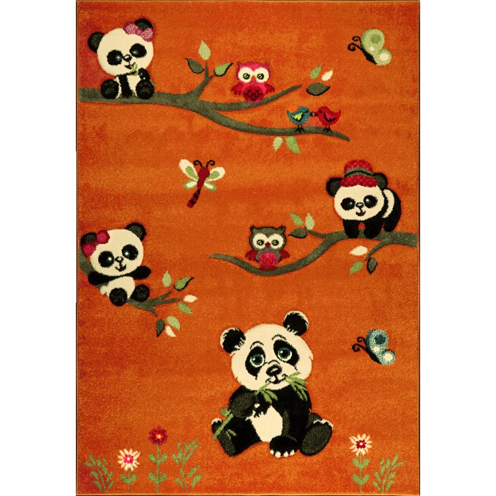 Dětský kusový koberec Jasper Kids 21041 | oranžový