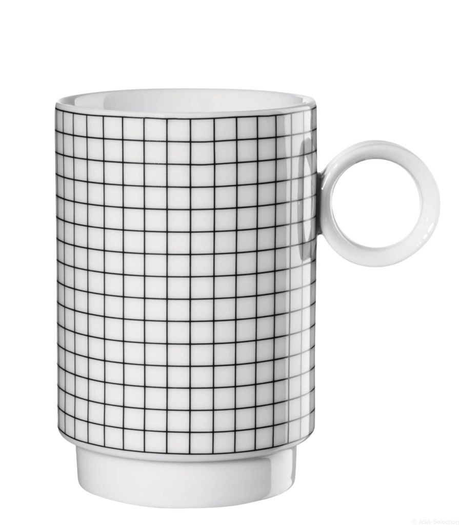 Hrnek na kávu ASA Selection Memphis Set 2 ks mřížky