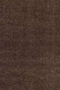 Chlupatý kusový koberec Life Shaggy 1500 hnědý