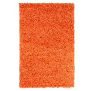 Chlupatý kusový koberec Life Shaggy 1500 oranžový