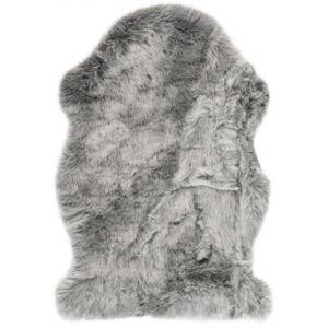 Chlupatý Kusový koberec Samba 495 Šedý (tvar kožešiny)
