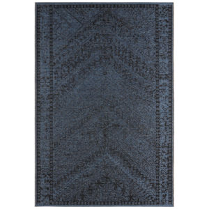 Klasický Kusový koberec Jaffa 104051 Modrý//Černý