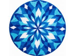 Koupelnová předložka Grund Mandala – Křídla radosti modré