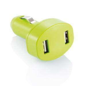 Loooqs, Nabíječka do auta se dvěma USB vstupy, zelená