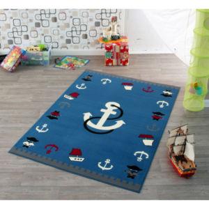 Moderní kusový koberec City Mix 102173 | modrý