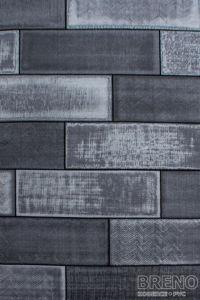Moderní kusový koberec Plus 8007 Black | černý