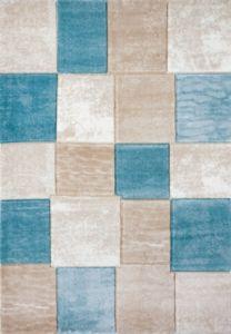Moderní kusový koberec Topaz tyrkysovo-béžový 1166