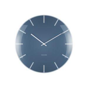 Nástěnné hodiny Karlsson Glass Dome 40 cm | modré