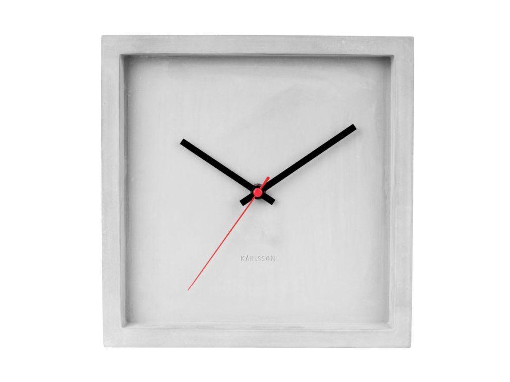 Nástěnné/stolní čtvercové hodiny Karlsson Franky | šedé