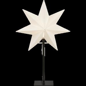 Papírová hvězda na podstavci Star Trading FROZEN 55cm   bílá