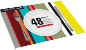 Papírové prostírání Remember Stripes (48 ks)