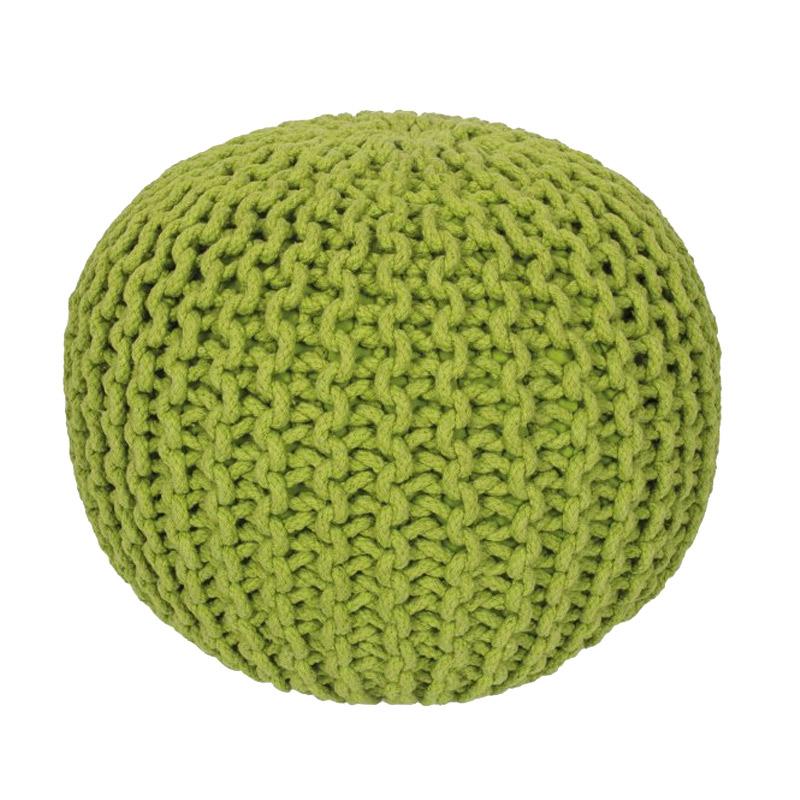 Pletený designový puf Cool Obsession 43×40 cm zelený