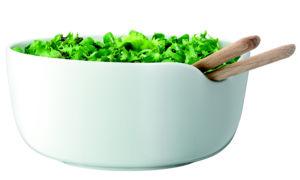 Salátová porcelánová mísa LSA Dine 24 cm | bílá