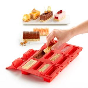 Set na zmrzlinové dezerty buche Lékué Kit Mini Buche Square   hranatá
