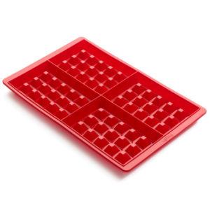 Silikonové pečicí formy na vafle 2 ks Lekue | červené
