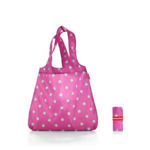 Skládací ekologická nákupní taška Reisenthel Mini Maxi Shopper   Magenta Dots