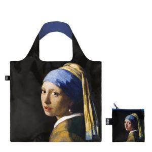 Skládací nákupní taška LOQI JOHANNES VERMEER – Girl with a Pearl Earring