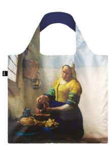 Skládací nákupní taška LOQI JOHANNES VERMEER The Milkmaid & Irma Boom
