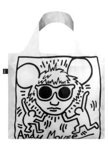 Skládací nákupní taška LOQI KEITH HARING Andy Mouse