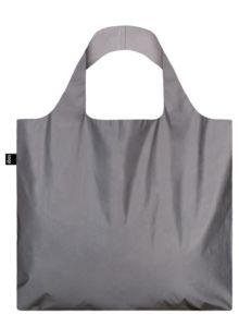 Skládací nákupní taška LOQI REFLECTIVE Silver | reflexní