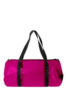 Skládací sportovní taška LOQI Weekender TRANSPARENT Pink   průhledná růžová