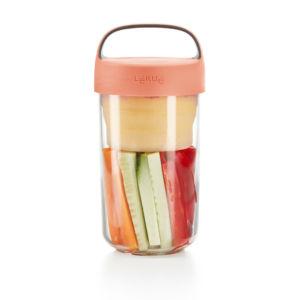 Svačinový box Lékué Jar To Go 600 ml | lososový