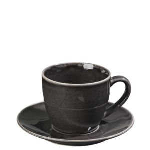 Šálek s podšálkem Broste Nordic Coal 150 ml