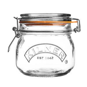 Zavařovací sklenice Kilner se skleněným víčkem a klipem 500 ml