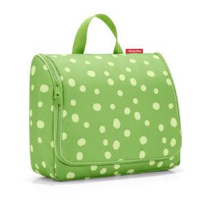 Závěsná kosmetická taška Reisenthel Toiletbag Spots Green | velká
