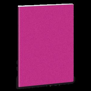 Linkovaný sešit A5  třpytivý tm. růžový