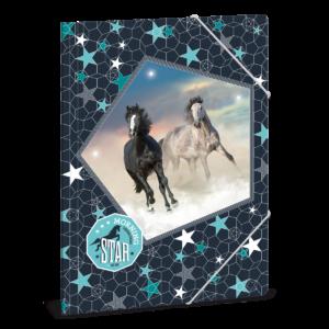 Složka na sešity Morning Star koně A4