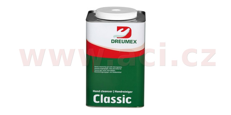 DREUMEX CLASSIC čisticí gel na ruce – červená 4,5 l