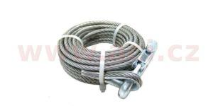 lano k ručnímu navijáku 6 mm/10 m (včetně háku)