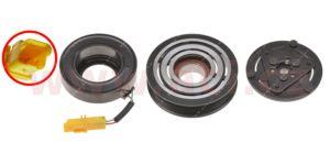 spojka kompresoru SANDEN 6C12, 118 mm, PV6 (Citroen C4, Peugeot 307, 308)
