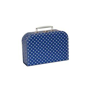 Dětský kufřík | tmavě modrý s hvězdičkami | 25cm