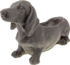Květináč  mrazuvzdorný, tvar psa, barva černá