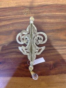 Ozdoba   lilie   zlatá   kov   31cm