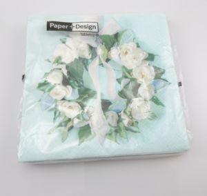 Papírové ubrousky růže wreath of roses 20ks 33x33cm