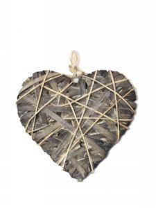 Srdce omotané šedé XL 41x41x5cm