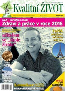 Časopis Kvalitní ŽIVOT  3. číslo BŘEZEN 2016