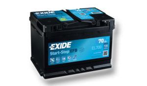 Autobaterie EXIDE START-STOP EFB 70Ah, 12V, EL700