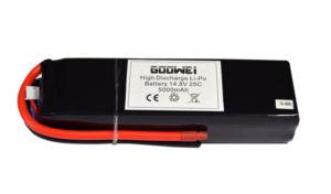 Baterie pro RC modely – 4S1P, 5000mAh, 14.8V, Li-po, 25C