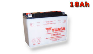 Motobaterie YUASA (originál) 12N18-3, 12V,  18Ah