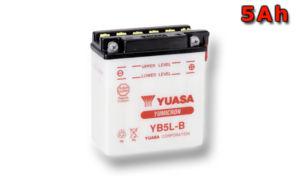 Motobaterie YUASA (originál) YB5L-B, 12V,  5Ah
