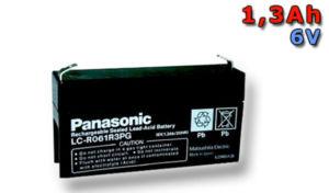 Panasonic LC-R061R3P, 6V – 1.3Ah, záložní baterie