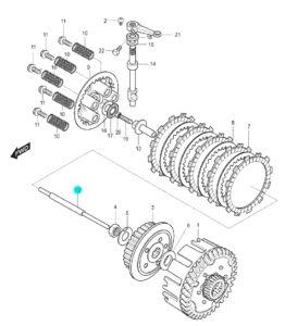[12] Spínací kolík (spojka) – Hyosung GT 125 N